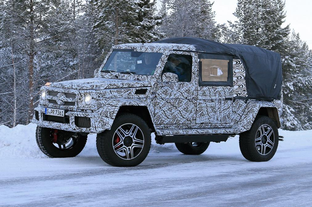 2018 mercedes benz g500 4x4 pickup spy shots surface. Black Bedroom Furniture Sets. Home Design Ideas