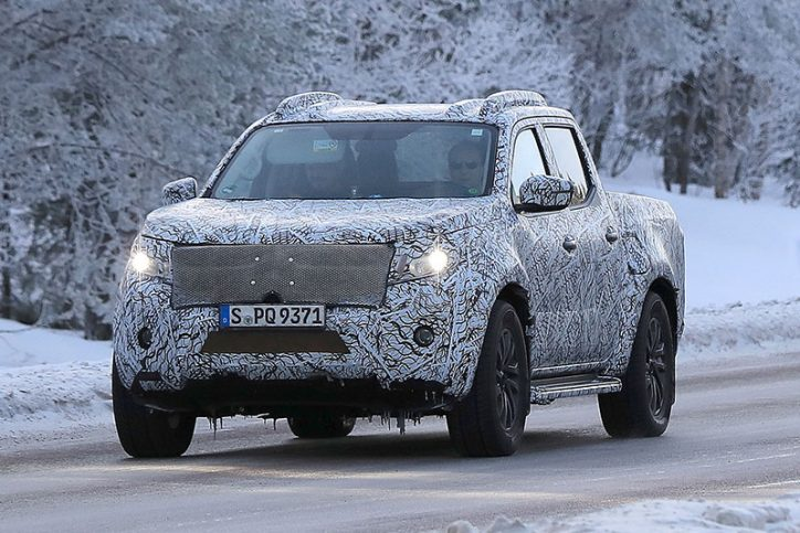 Mercedes benz x class caught being tested in arctic circle for Mercedes benz trucks