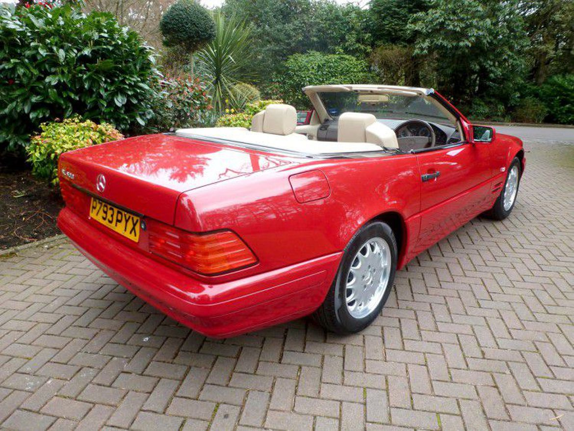 1996 mercedes benz sl500 unused for 21 years now on sale for Mercedes benz 500 sl for sale
