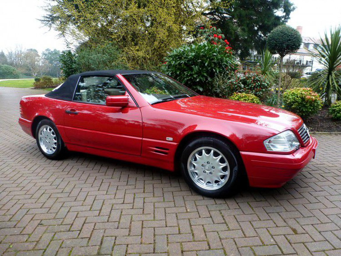 1996 mercedes benz sl500 unused for 21 years now on sale. Black Bedroom Furniture Sets. Home Design Ideas