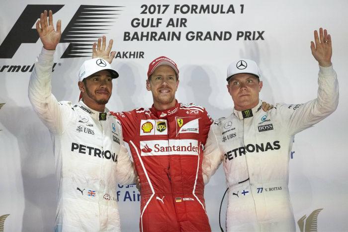 Bahrain GP Hamilton second Bottas third Vettel wins