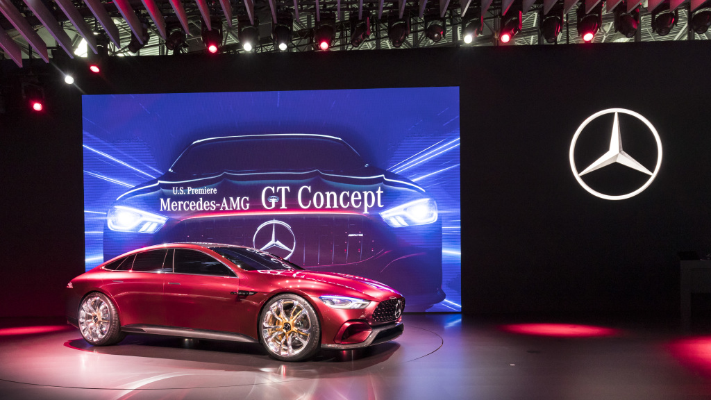 A look at mercedes benz during the 2017 new york auto show for Mercedes benz car show