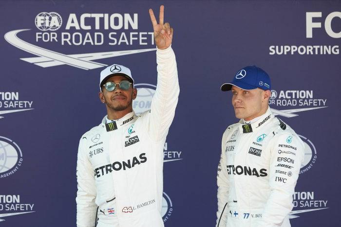 Spanish GP - Lewis Hamilton takes pole position