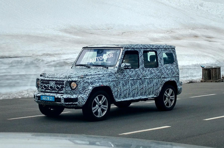 more 2018 mercedes benz g class spy shots show up. Black Bedroom Furniture Sets. Home Design Ideas