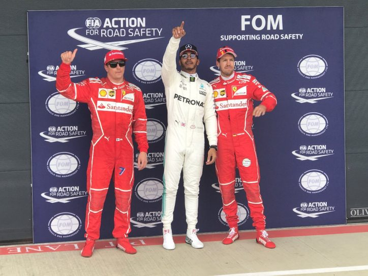 Lewis Hamilton stormed to pole position at the British Grand Prix
