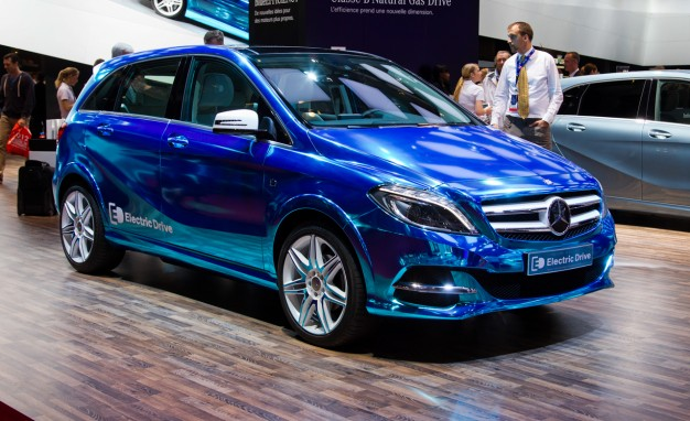 The Mercedes-Benz B-Class Electric Drive in its concept form in 2012.