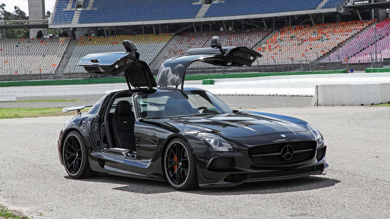 mercedes benz sls amg black series upgraded by inden design. Black Bedroom Furniture Sets. Home Design Ideas
