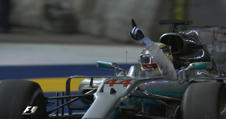 Lewis Hamilton wins Singapore Grand Prix