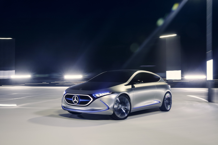 Mercedes benz concept eq a revealed at the frankfurt motor for Mercedes benz concept eq