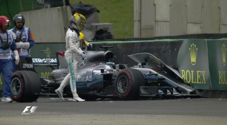 Hamilton crashes at Brazilian GP qualifying