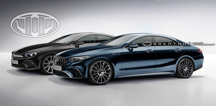 Rendering of 2018 Mercedes-Benz CLS and Mercedes-AMG CLS
