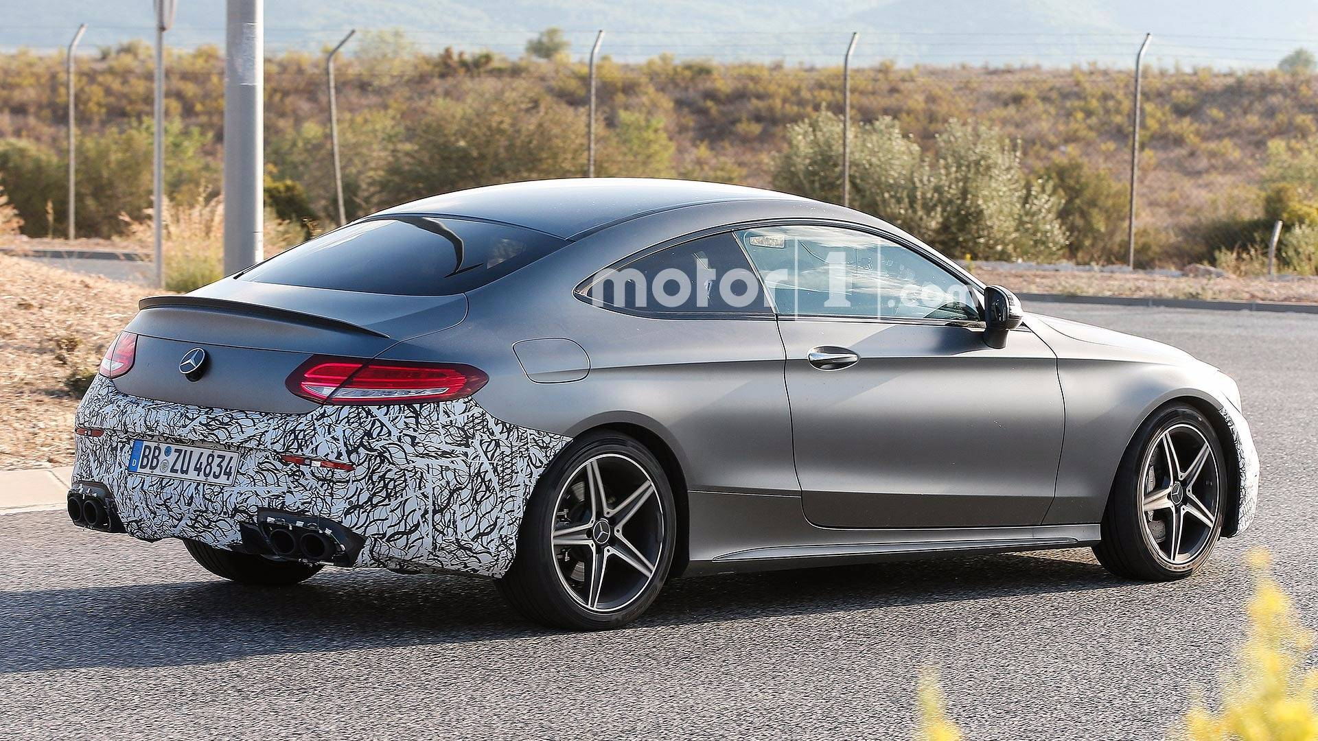 mercedes amg c43 coupe spy shots during testing a mercedes benz fan blog. Black Bedroom Furniture Sets. Home Design Ideas