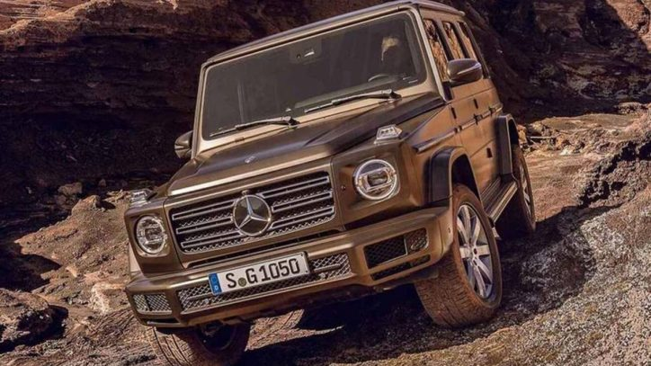 Mercedes-Benz G-Class - exterior images leaked