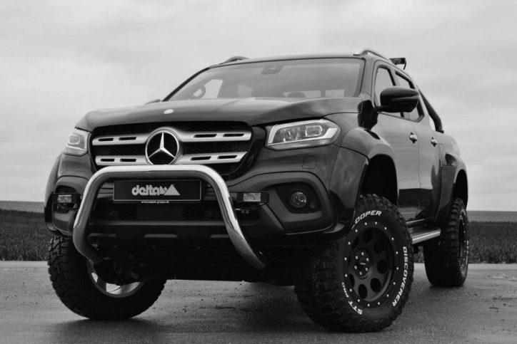 mercedes benz x class given a widebody makeover by delta4x4. Black Bedroom Furniture Sets. Home Design Ideas