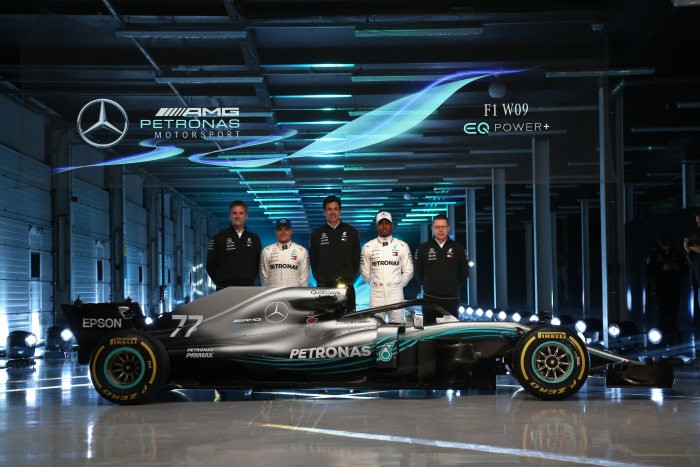 Mercedes reveal their 2018 F1 car W09 EQ Power+ at Silverstone — Watch