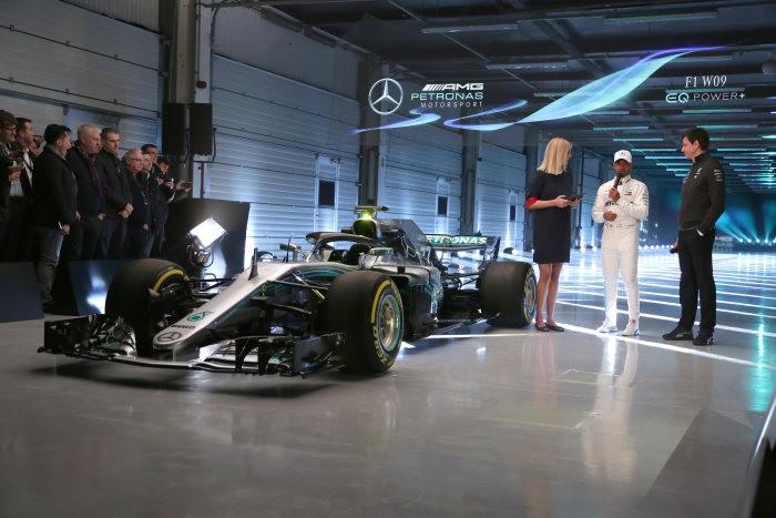 Mercedes reveal their 2018 F1 car W09 EQ Power+ at Silverstone — Watch