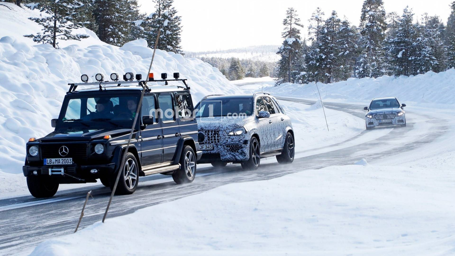 This Mercedes Amg Gle 63 Prototype Is Having A Bad Day