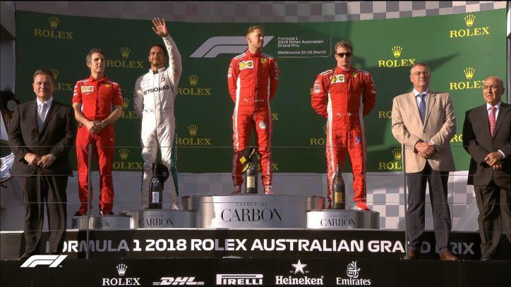 Hamilton second in F1 opener