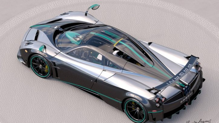 Last Pagani Huayra Inspired by Lewis Hamilton's Mercedes F1 Car