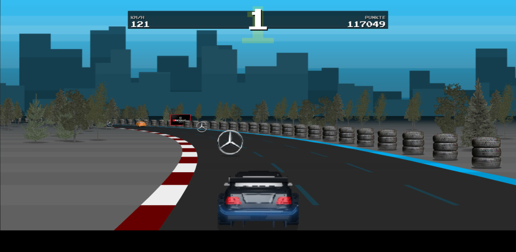 Mercedes benz retro game lets you win a ride in the dtm for Mercedes benz games