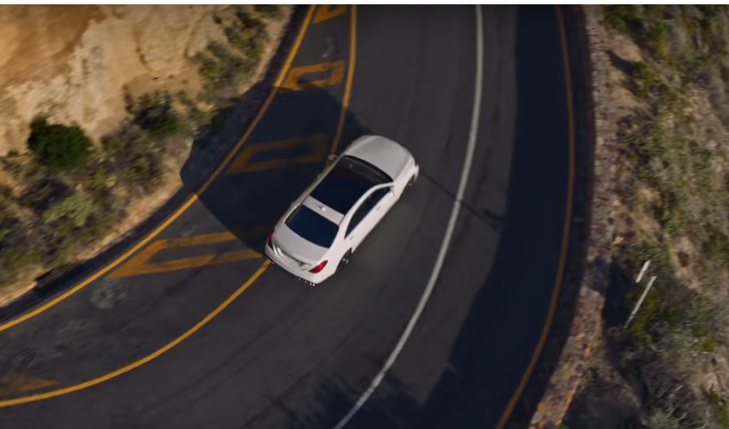man revisits place of accident with self-driving mercedes-benz s-class