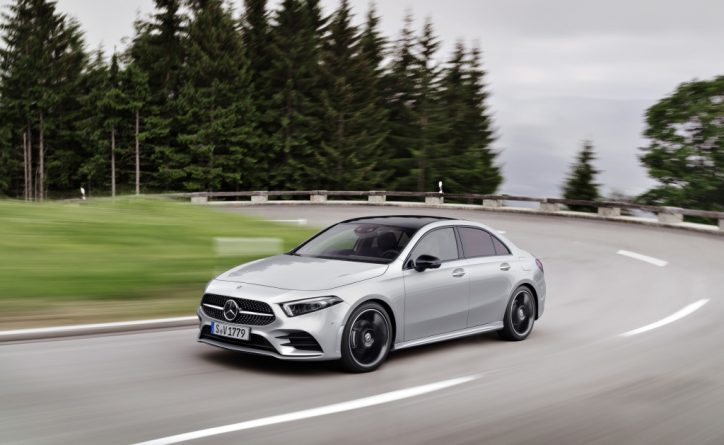 All new mercedes benz a class sedan unveiled in the us for Mercedes benz of usa