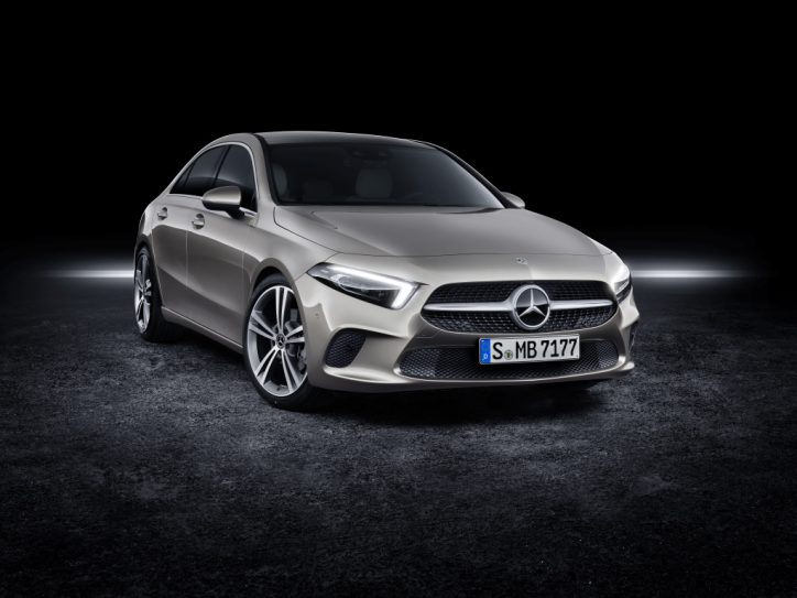 all new mercedes benz a class sedan unveiled in the us