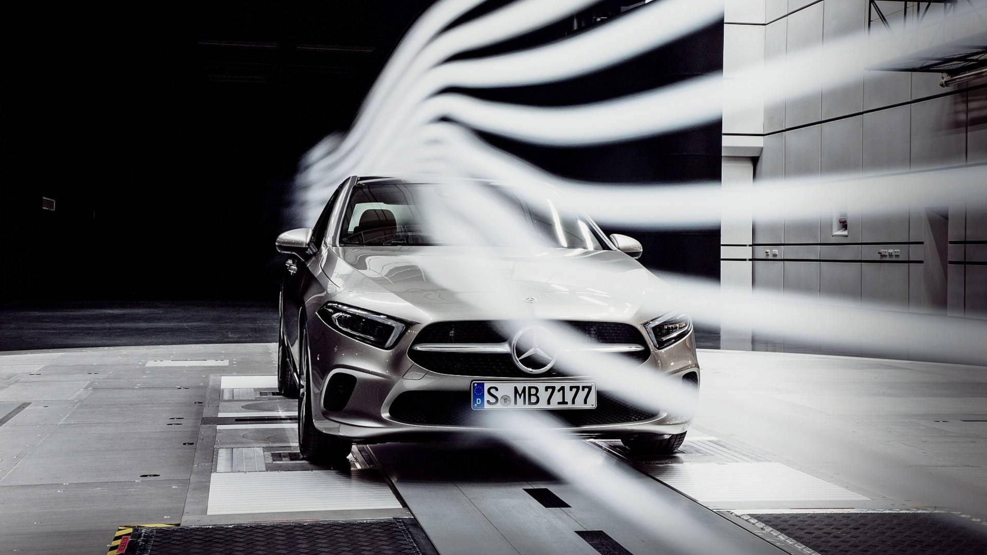 Mercedes benz a class sedan teased as the most aerodynamic for Mercedes benz worldwide