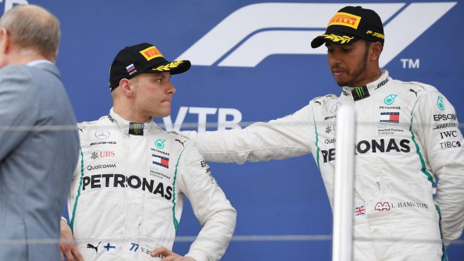Lewis Hamilton Wins in Russia, Thanks to Team Orders