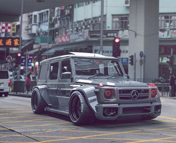 Check Out This Slammed Mercedes-AMG G63 SUV