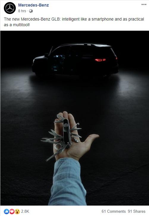 Mercedes Benz GLB SUV Teased On Facebook