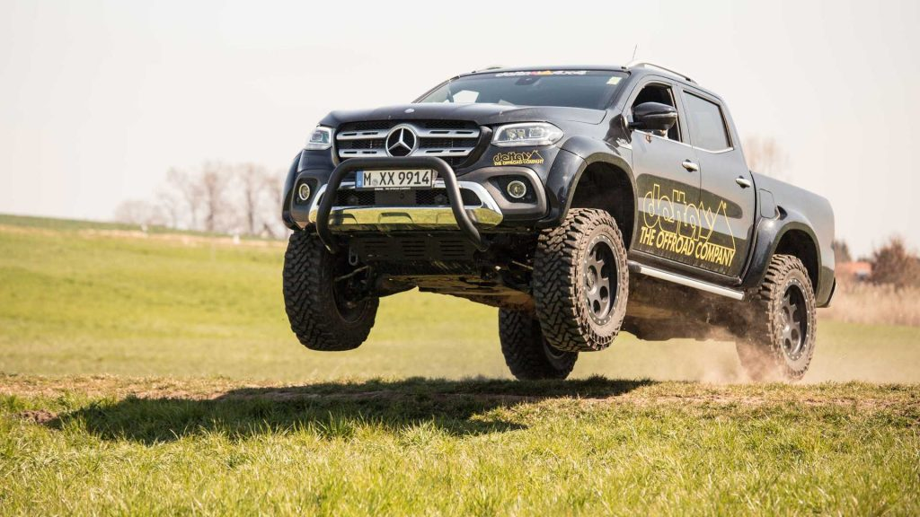 mercedes benz x class gets tuned to an almost g class form. Black Bedroom Furniture Sets. Home Design Ideas