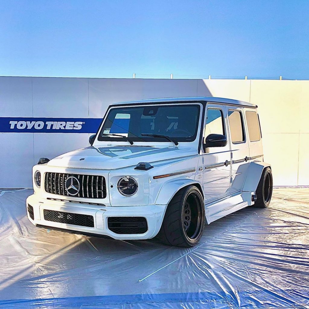Slammed Mercedes-AMG G63 Spotted At The 2019 SEMA Show