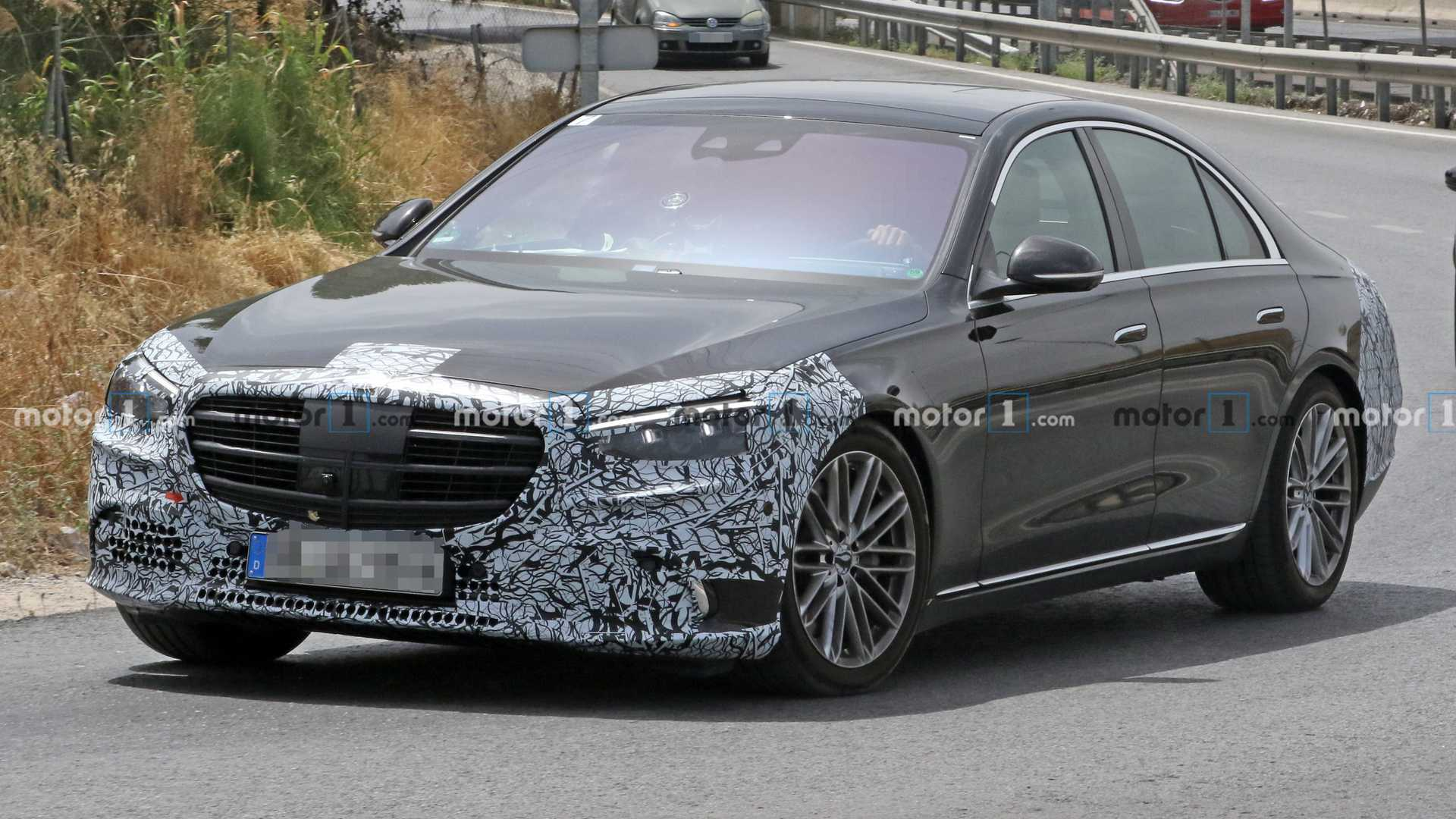 2021 mercedesbenz sclass strips out more camo