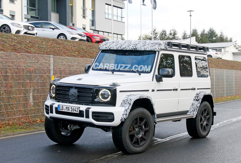 New Mercedes Benz G Class 4x4 Squared Suv Spied